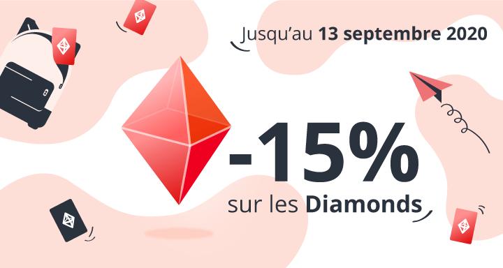 Promotion Diamonds septembre 2020