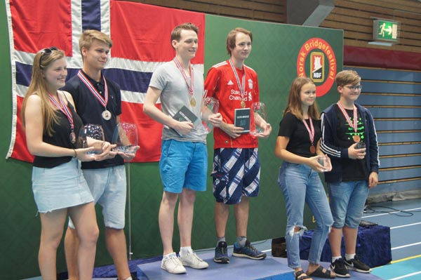 Norwegian Bridge Festival 2018: junior pairs medal