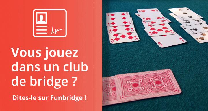 Renseignez votre club de bridge dans Funbridge