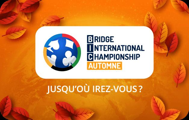 bridge international championship bic automne tournoi funbridge