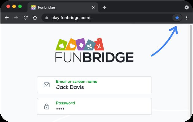 Comment ajouter Funbridge à vos favoris