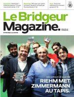 Donne commentée dans le magazine Le Bridgeur
