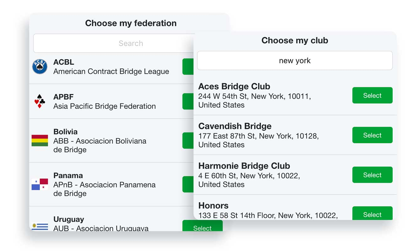 Friends' new profiles: add your club and federation