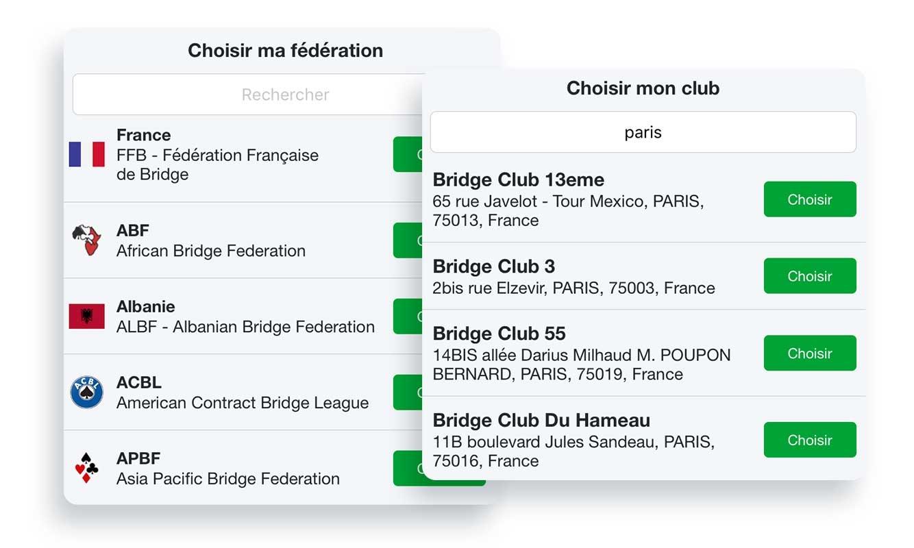 Nouveau profil de vos amis : ajoutez votre club de bridge !